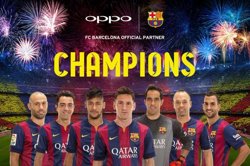 FC Barcelona dominates the Champions League, OPPO ...