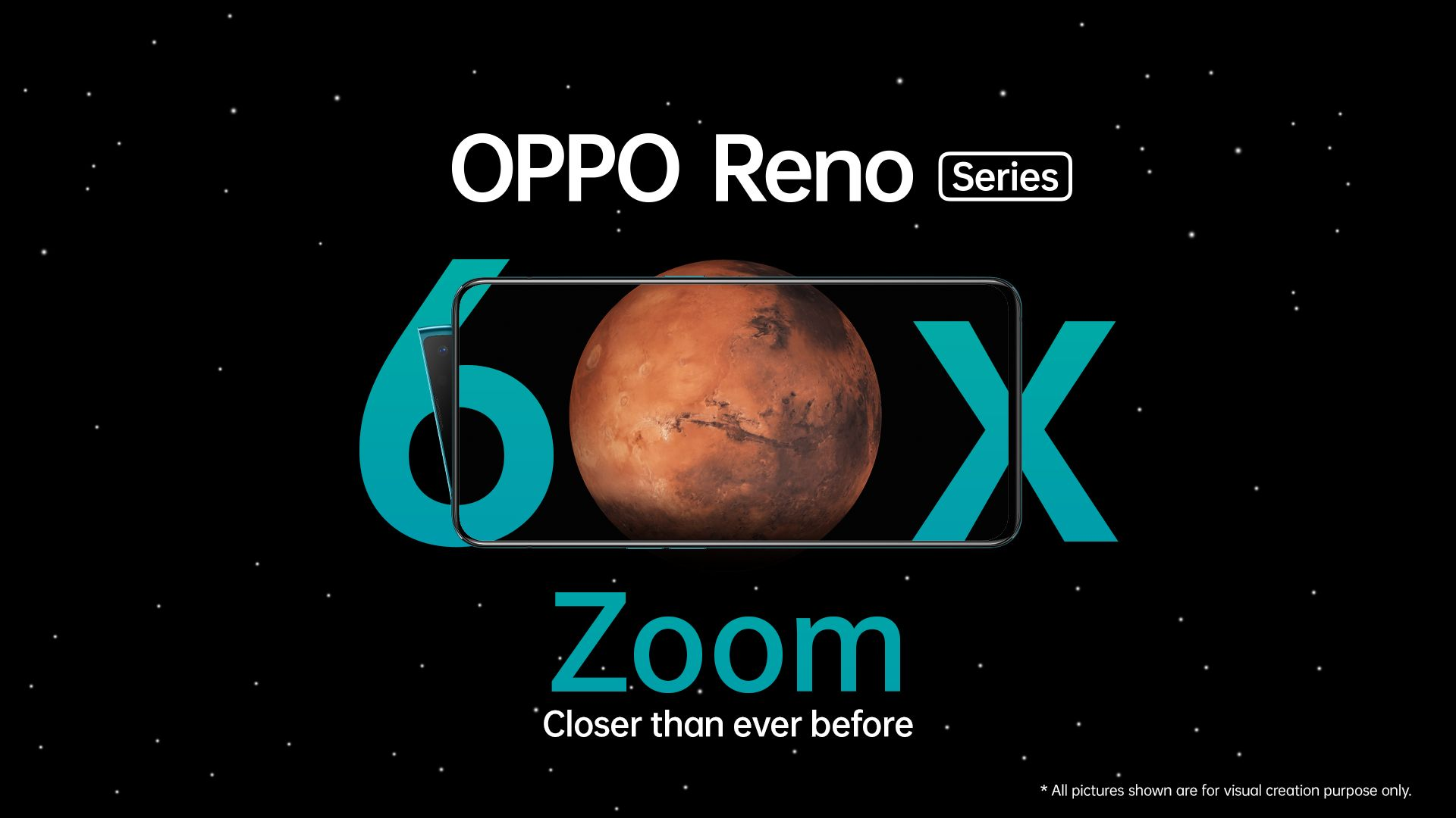 First ever 60x Digital Zoom technology realized on OPPO Reno Series