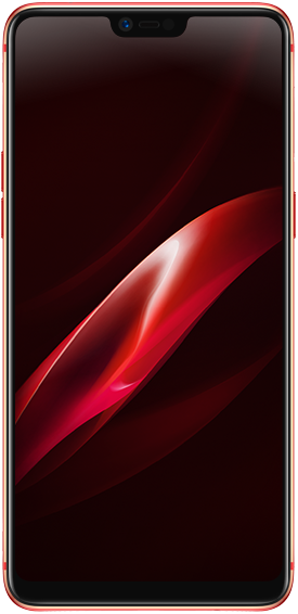 Red front facing OPPO R15 Pro