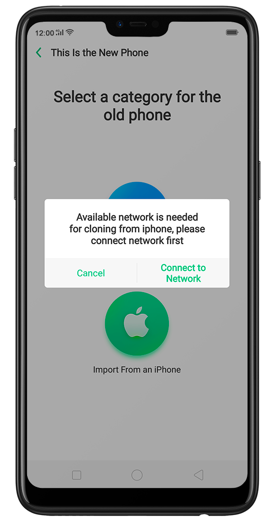 Transfer contacts from iPhone to Android on OPPO