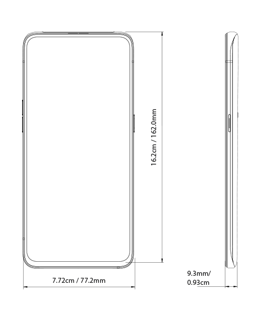 OPPO Reno Series Dimension Image