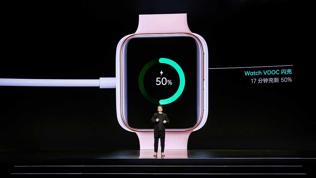 OPPO Watch được trang bị công nghệ sạc nhanh VOOC