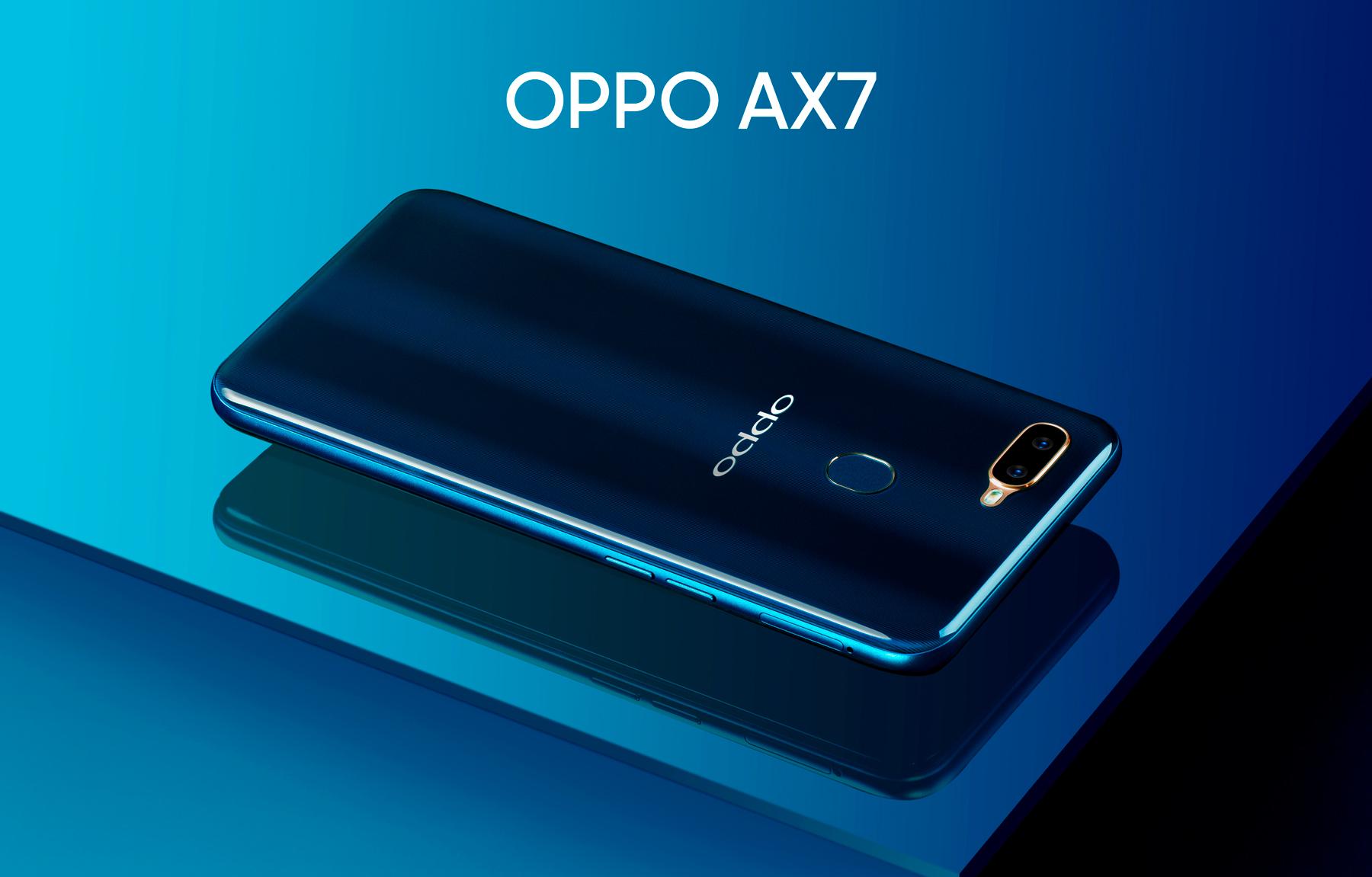 OPPO AX7, el teléfono de pantalla completa que redefine el diseño de los smartphones