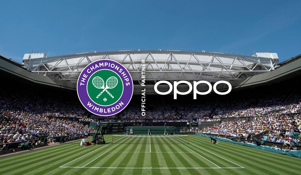 OPPO è partner ufficiale smartphone del torneo di Wimbledon