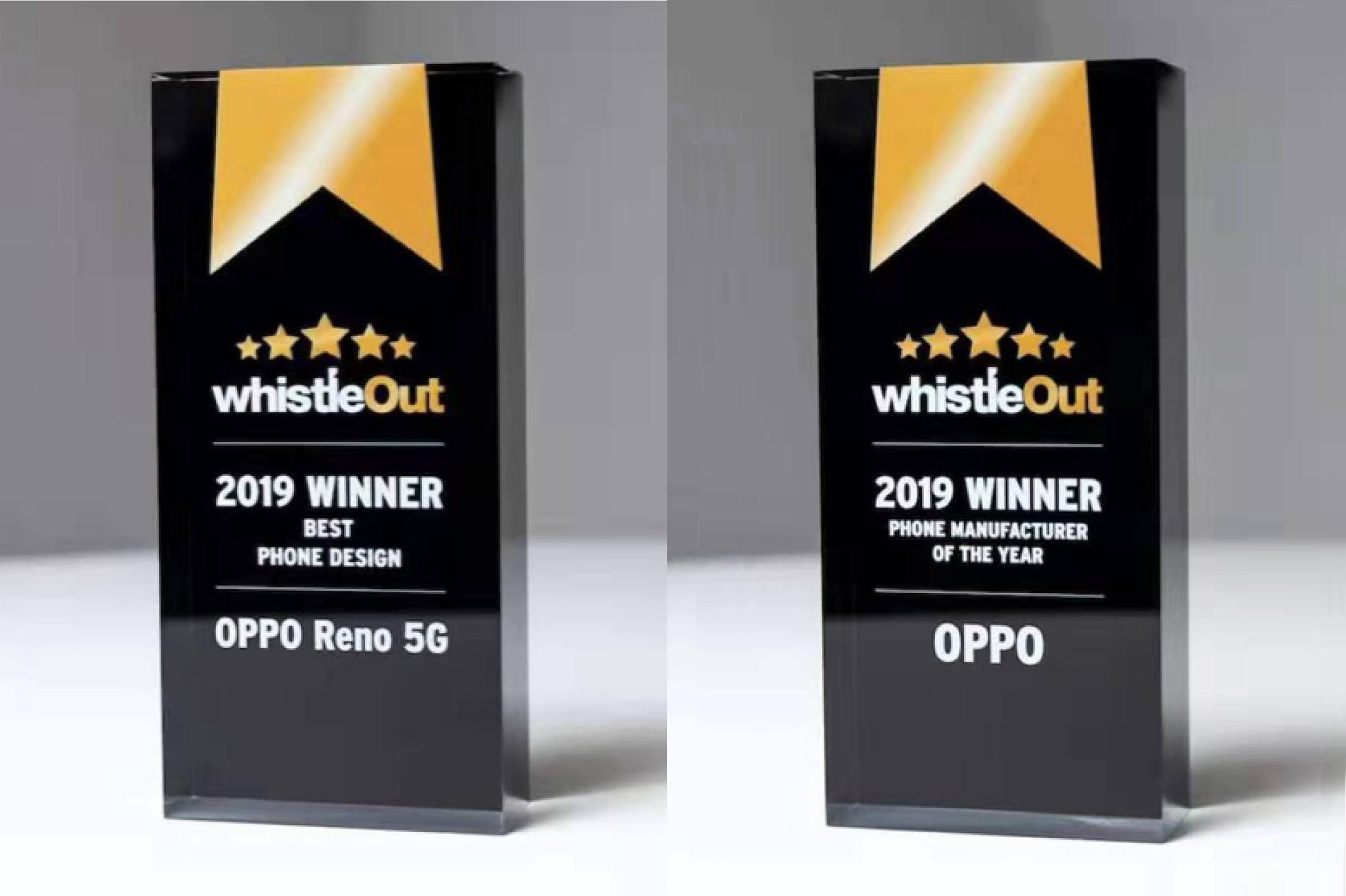 OPPO、2019年WhistleOut最優秀スマートフォンメーカーおよび最優秀スマートフォンデザインに選出