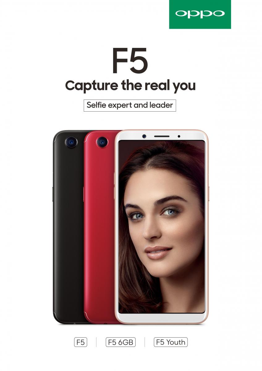 OPPO Launches F5,Selfie Expert with a 6-inch Full Screen and