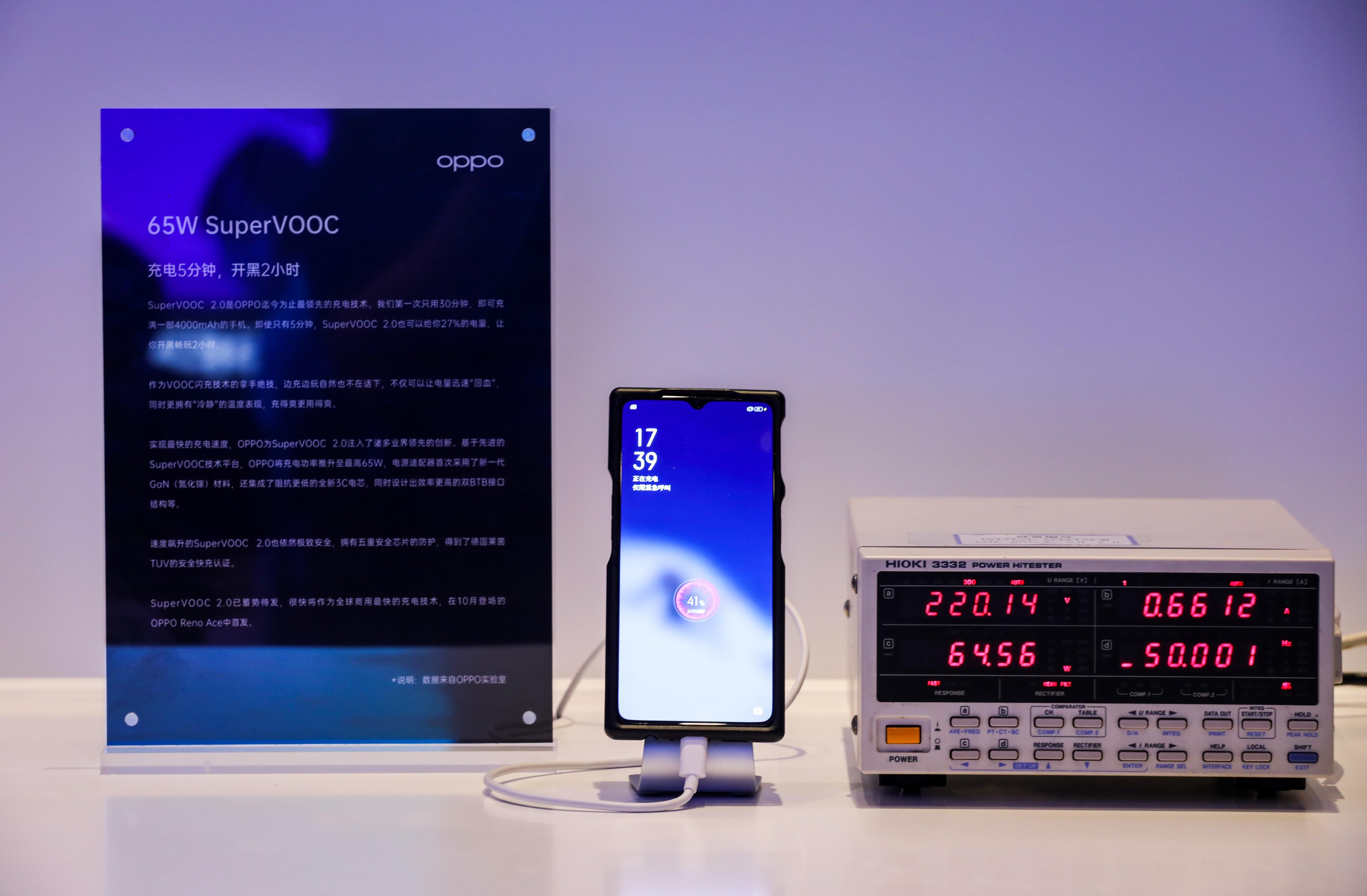 OPPO представила три новых технологии скоростной зарядки