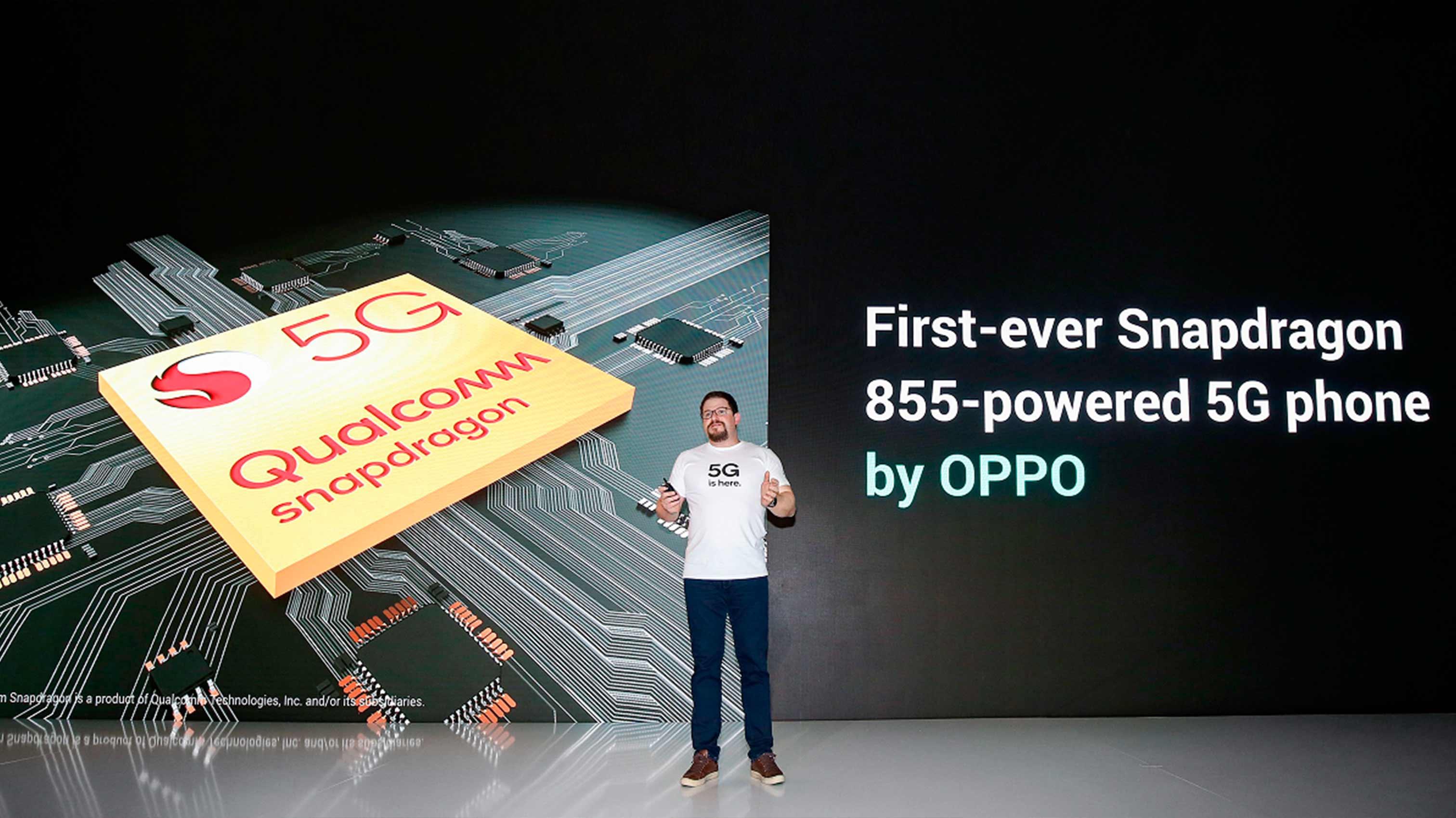 OPPO - первая компания с процессором Snapdragon 855 для первого смартфона с поддержкой 5G.