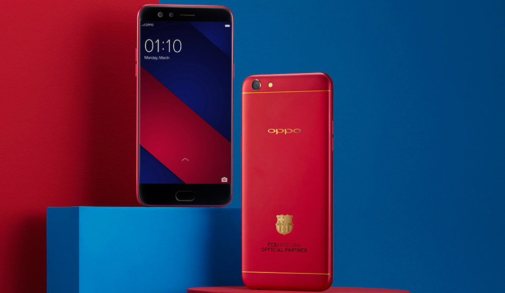 "OPPO launches F3 ""FC Barcelona"" Limited Edition - from Enthusiasts to Experts in Sri Lanka"