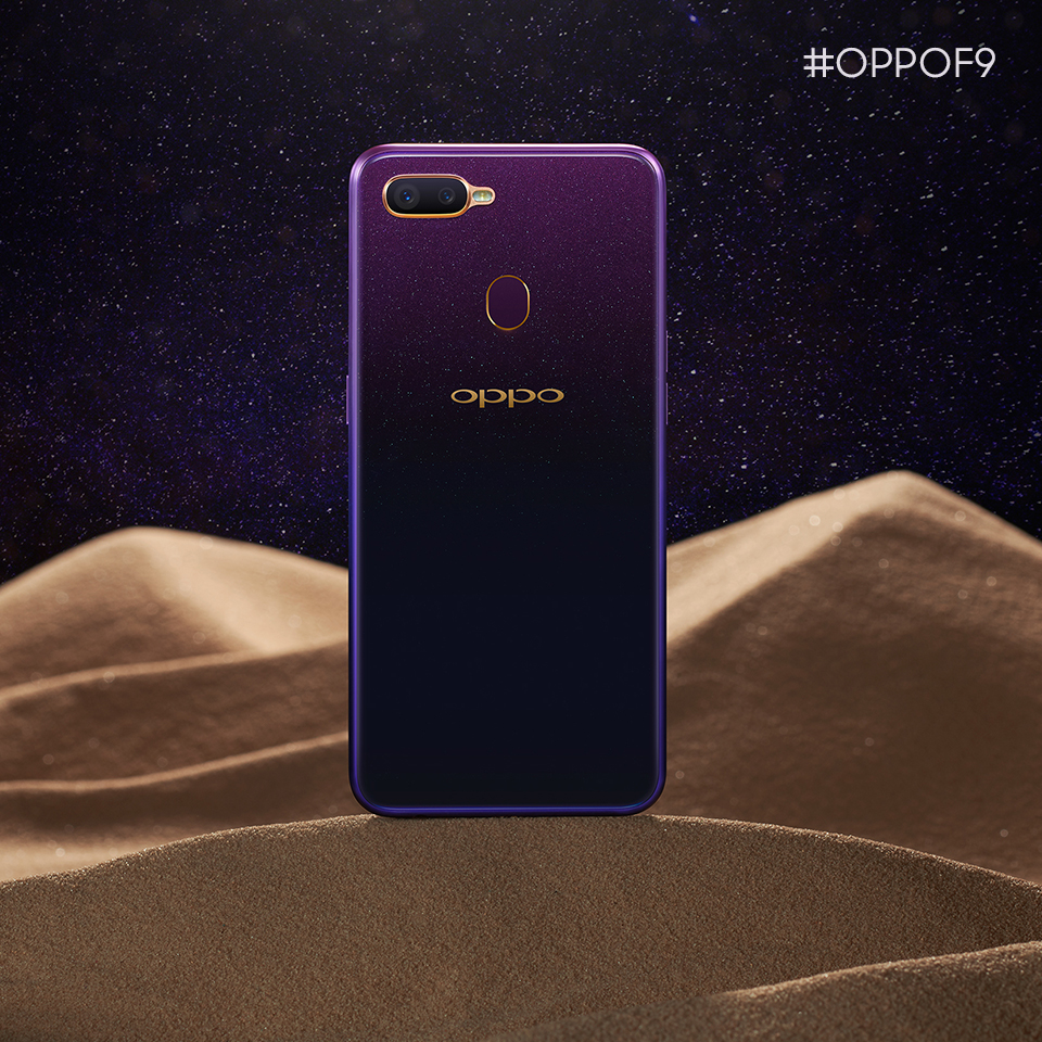 OPPO F9 lands with Starry Purple   The symbol of Technology, luxury and elegance