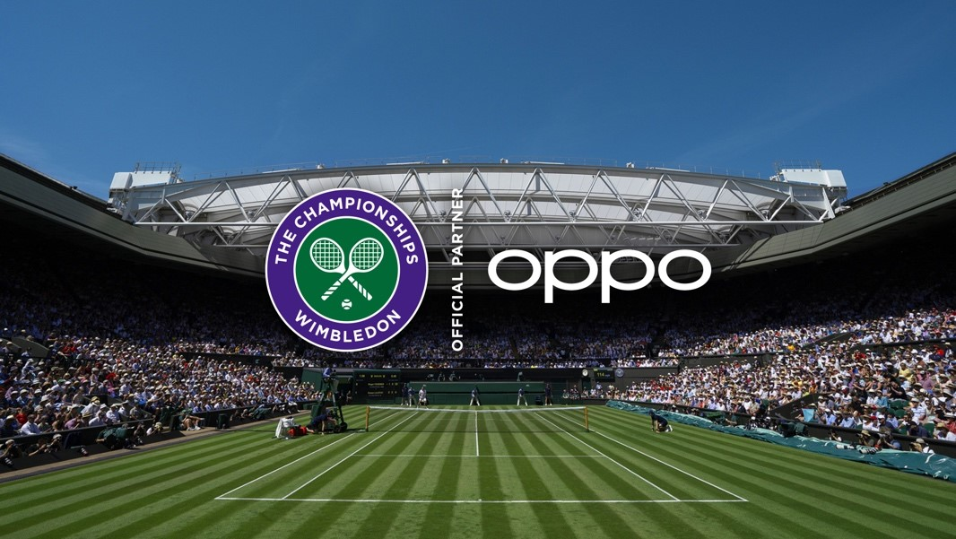 OPPO NAMED OFFICIAL SMARTPHONE PARTNER  OF THE CHAMPIONSHIPS, WIMBLEDON