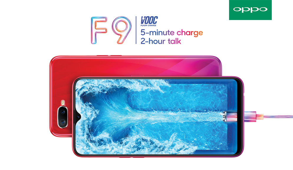 OPPO F9 Elevates Smartphone Standard with Revolutionary VOOC Flash Charge, 6GB RAM, and Gradient Body Design