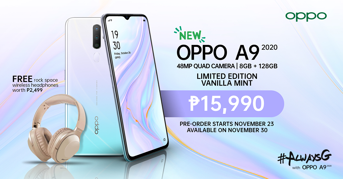 OPPO Introduces Limited Edition A9 2020 Vanilla Mint colorway