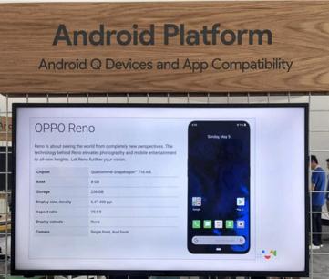 OPPO dołącza do programu Android Q Beta i prezentuje możliwości technologii 5G podczas konferencji Google I/O 2019.