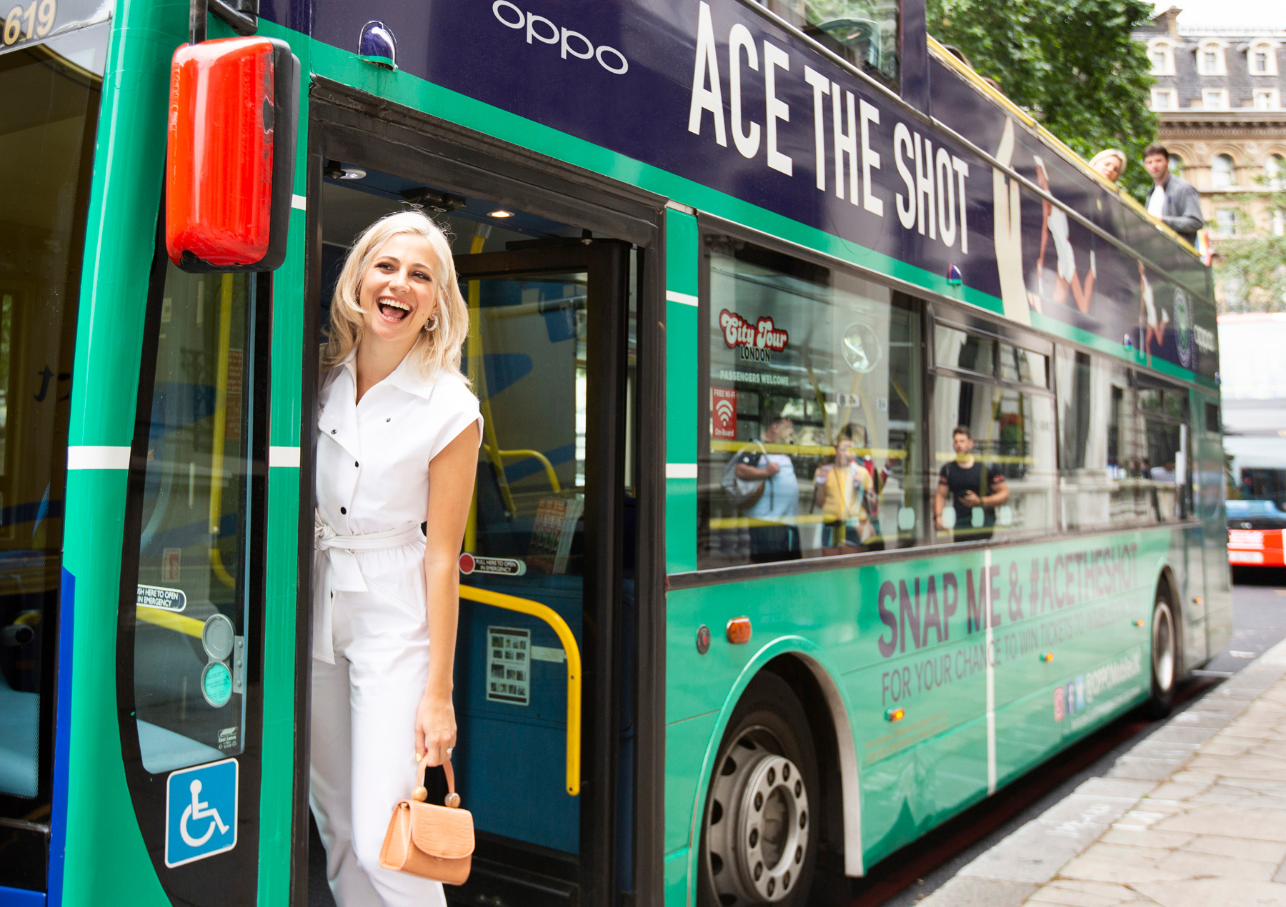Pixie Lott aces the shot before The Championships, Wimbledon