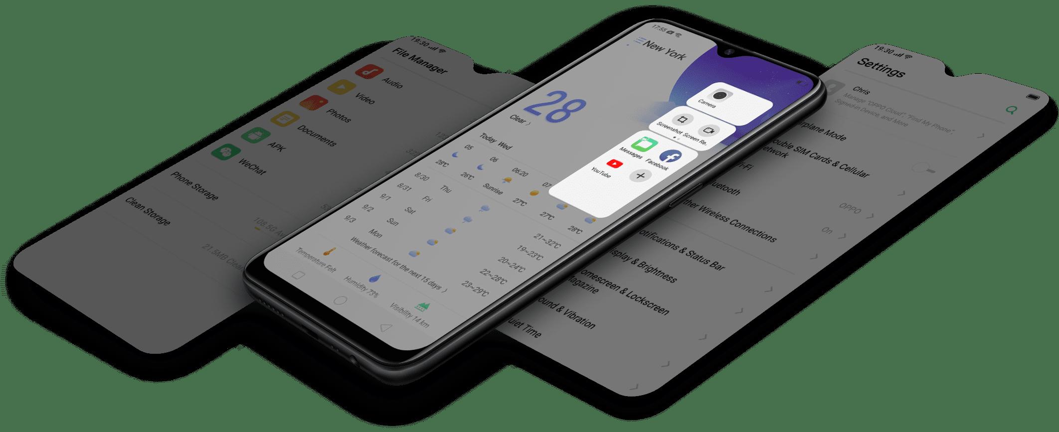 OPPO A5s - smart bar