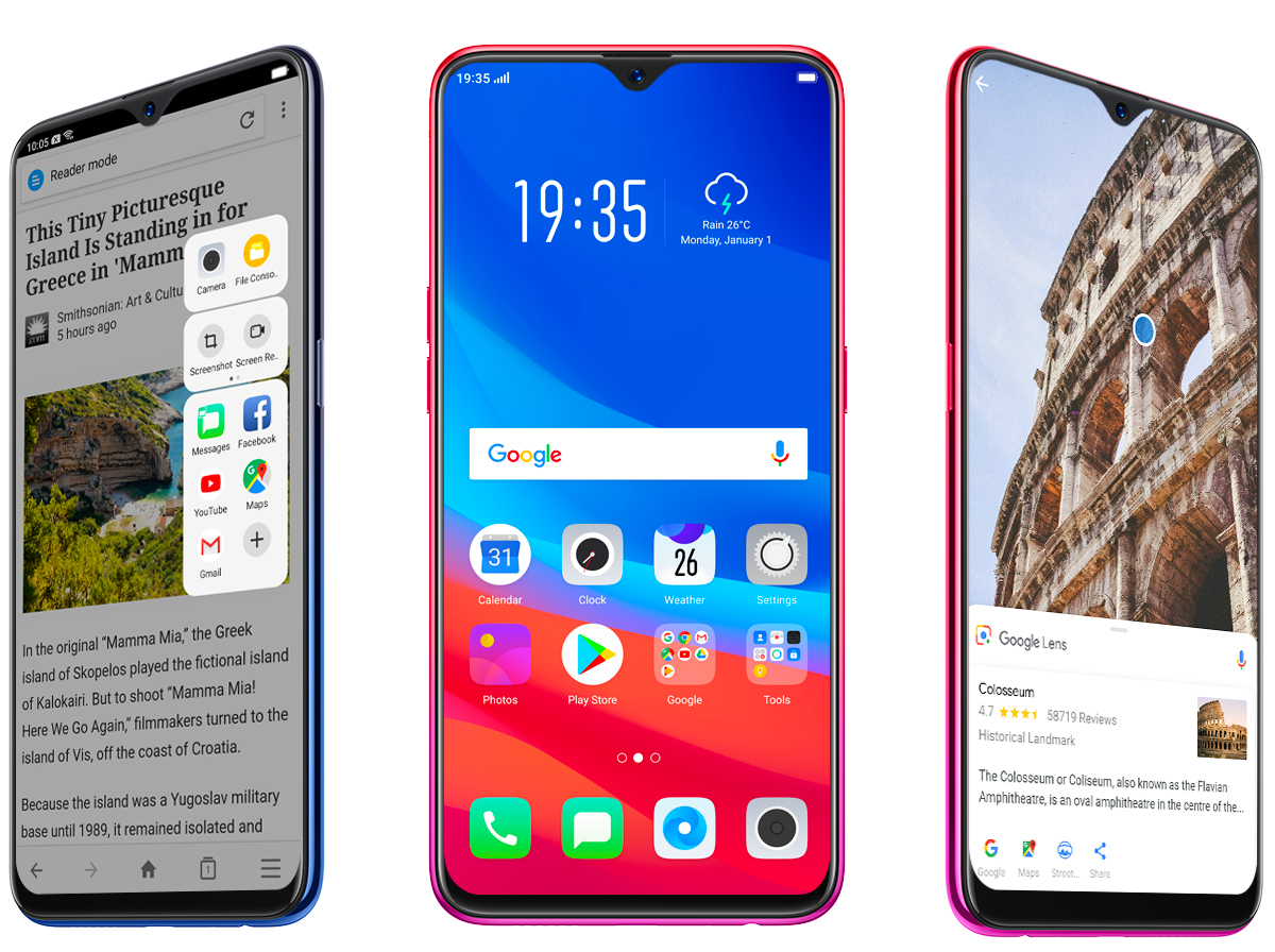 OPPO F9 ColorOS 5.2 - Multitasking/Google Lens/Video on Display