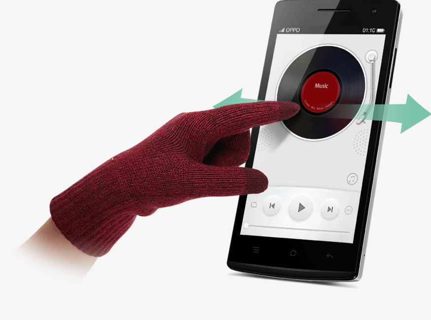 OPPO Find 5 mini Glove Mode