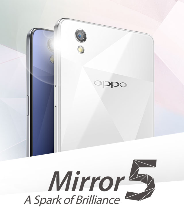 3fe85d98cb4 A Different Kind Of Shine. The OPPO Mirror 5 ...