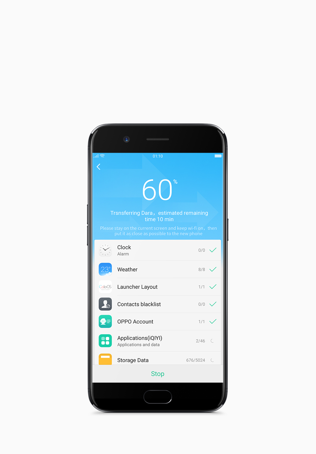 ColorOS 3.1 supports effortless OPPO share instant transfers via Bluetooth.