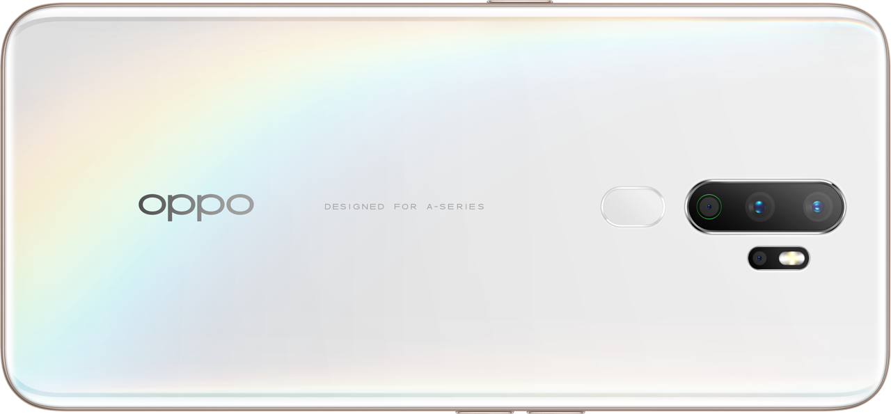 OPPO A5 2020 smartphone back - Whites