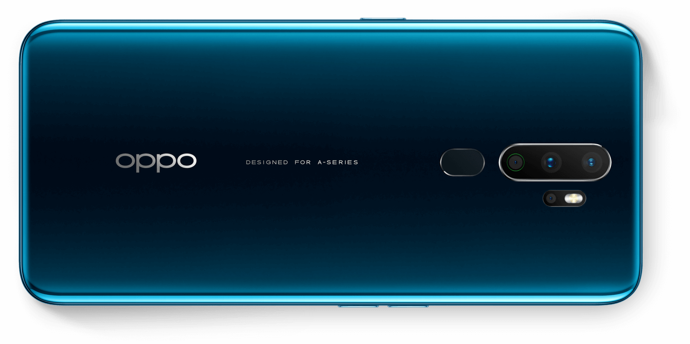 OPPO A9 2020 smartphone back - Dark green gradient
